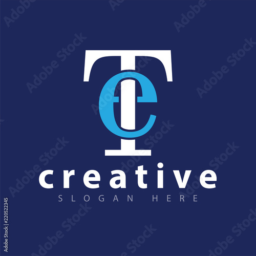 Photo  ET Initial letter logo icon vector