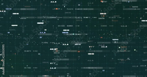 Abstract digital data background, 3D rendering