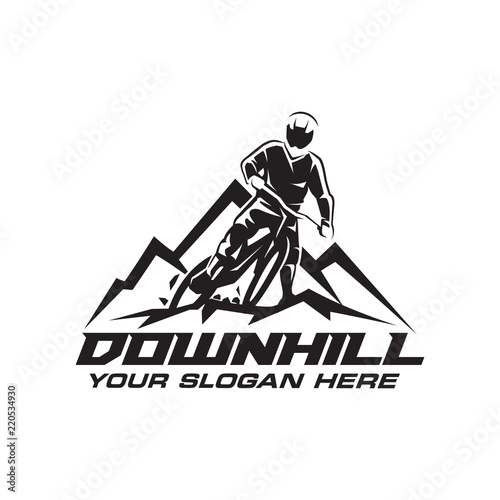 Cuadros en Lienzo Downhill Bicycle Logo Vector