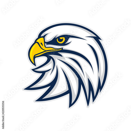 Obraz na plátně Eagle Head Logo Vector