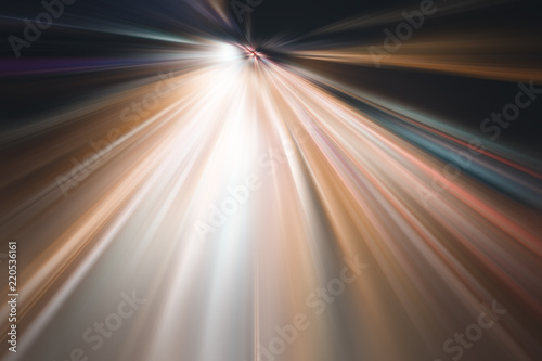 fototapeta na szkło Abstract acceleration speed motion blurred light background