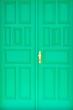 Leinwanddruck Bild - Grünes Eingangstor