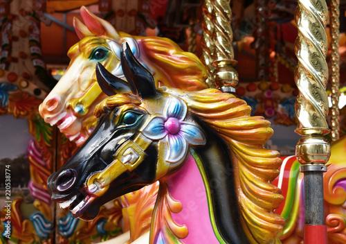 Stampa su Tela carousel horses