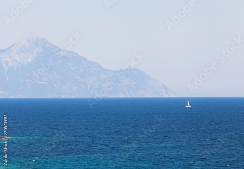 Fotografie, Obraz  Amazing view of the Athos mountain seen from Sithonia peninsula