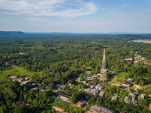Radio Tower For Telecommunication For Rural Area In Thailand