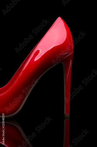 Fotografie, Obraz  Red high-heeled shoes
