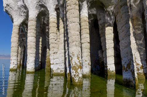 Fotografia  Stone Columns at the eastern shore of Lake Crowley Mono county, California