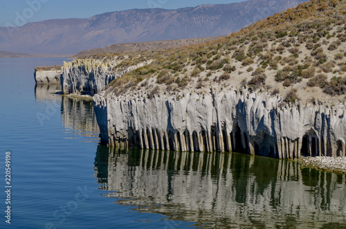 Photo  Stone Columns at the eastern shore of Lake Crowley Mono county, California