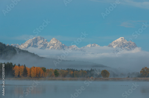 Foto op Aluminium Blauwe jeans Teton Autumn Sunrise Reflection