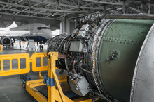 Jet Airplane Turbine On Repair...