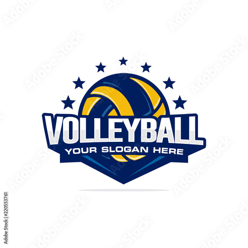 Volleyball Logo Vector Buy This Stock Vector And Explore Similar