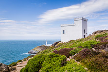 View On The Historic South Stack Lighthouse On Anglesey, Wales, United Kingdom