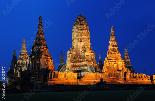 The ruin of watchaiwattanaram temple at Ayuthaya Thailand