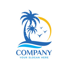 Palm Tree Logo Vector