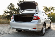 Car With Open Clean Empty Trunk