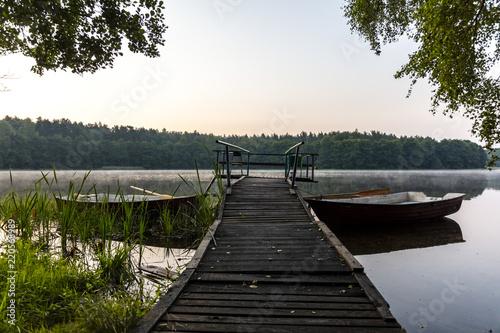 Photo Widok na jezioro w Polsce, Mazury