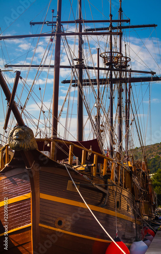 Copy of old sailing ship