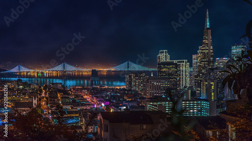 Photo San Francisco night view from Russian Hill
