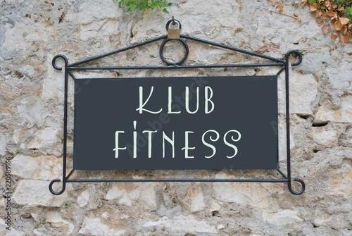Naklejka premium Klub fitness