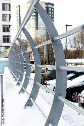Foto  The curved arc fence