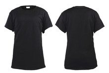 Women's Blank Black T-shirt, F...