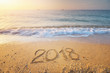 2018 year on the sea shore.