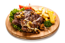 Grilled Steak With French Frie...