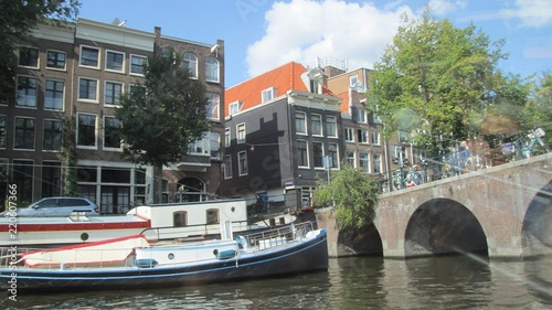 Foto op Canvas Kanaal Historic and medieval facade in the water.