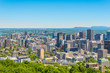 Skyline view from Mount Royal hill at the Montreal city in Canada