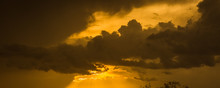 Monsoon Storm Clouds Roll In At Sunset In The Arizona Desert