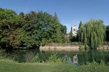 Church On Grand Morin River Bank In Crecy La Chapelle Village