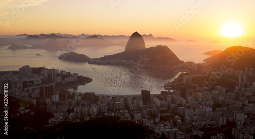 Keuken foto achterwand Amerikaanse Plekken Panorama of Rio de Janeiro city and Sugarloaf mountain, Brazil