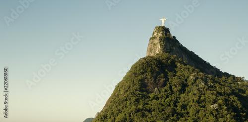 Panorama with Corcovado mountain in Rio de Janeiro, Brazil
