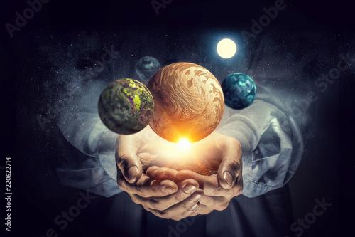 Fototapeta System of universe . Mixed media obraz