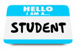 Student Class Learner Education Name Tag 3d Illustration