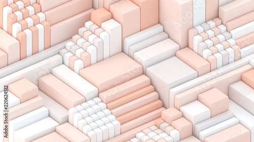 obraz dibond 3d background. Abstract wallpaper. Shapes 3d. Cubes. Geometric objects. Minimalism. Trendy modern illustration. Render. Stylish concept. Poster backdrop. Minimal style.