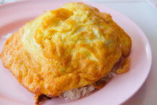 Omelette On Top Cooked Rice