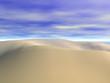 Wüstenlandschaft unter blauem Himmel