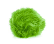 Green Fur Ball Isolated On Whi...