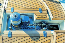 Teak Deck On A Yacht
