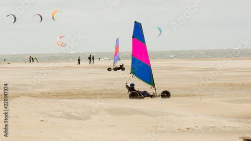 Fotomural  Strand Segeln Segler