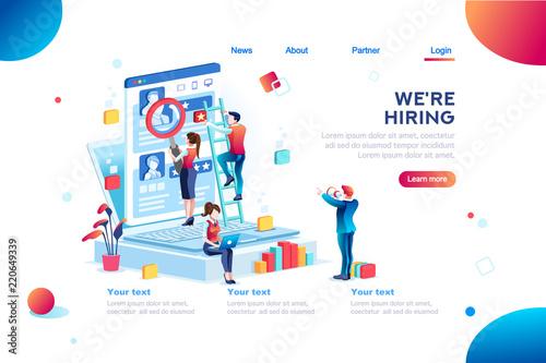 Fotografía  Social presentation for employment