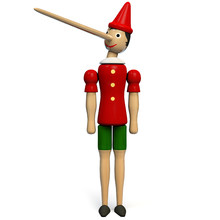 Pinocchio Toy Doll Isolated On...