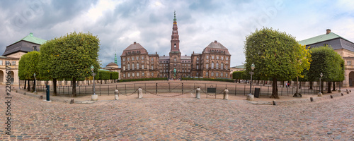 Panoramic view of Christiansborg, palace and government building, the seat of pa Canvas Print