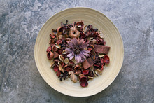 Dried Flowers Potpourri On A B...