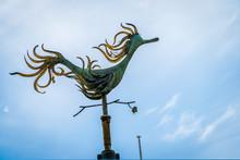 Duck Weathervane And Blue Sky In Melbourne, Victoria, Australia