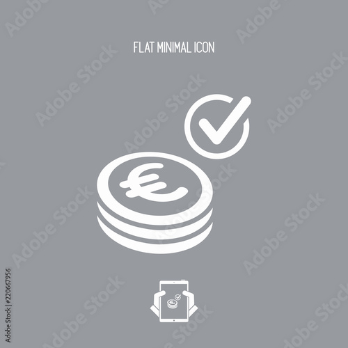 Photo Payment checking icon - Euro