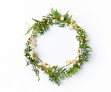 Christmas Wreath With Natural ...