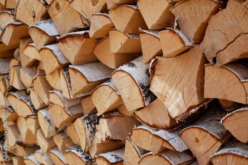 Recess Fitting Firewood texture birch firewood