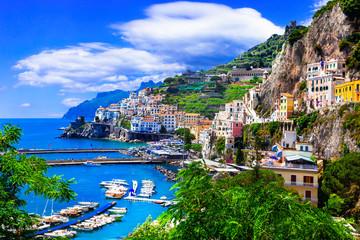 Scenic Amafi coast. Italian summer holidays. Campania, Italy